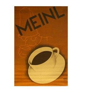 Julius Meinl Kaffee Tasse Poster
