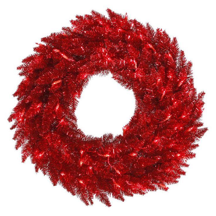 Vickerman Tinsel Pre-lit Wreath