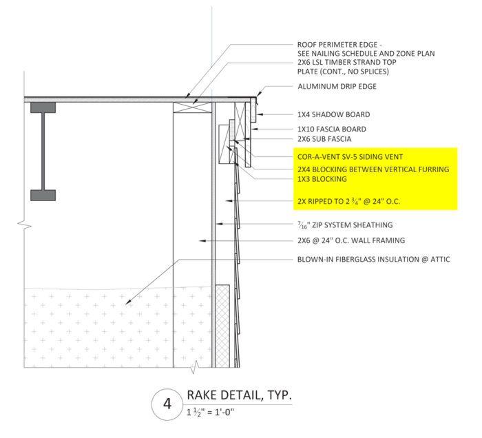 Rake Detail Roof Overhang Design Roof Overhang