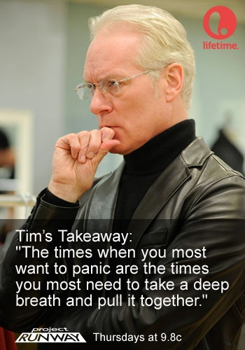 Tim Gunn's Takeaway EP. 8 #ProjectRunway #MakeItWork                                                                                                                                                                                 More