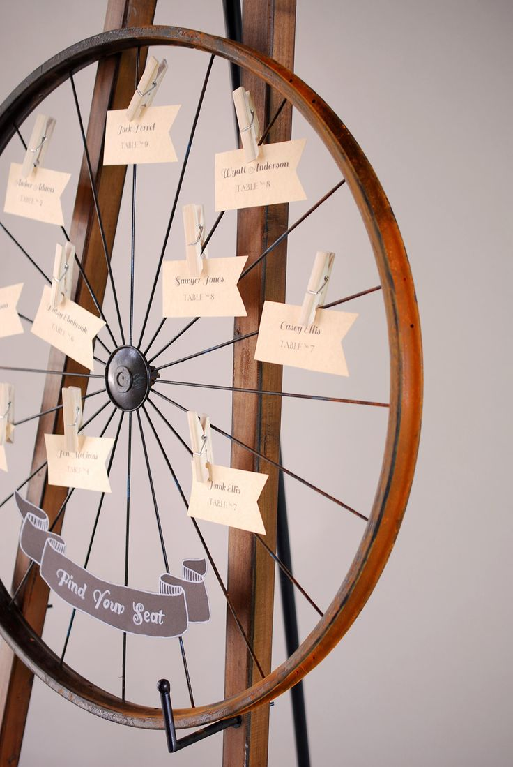 12 best bike themed wedding images on pinterest wedding jewelry place card display bike rim 24 card holder magicingreecefo Gallery