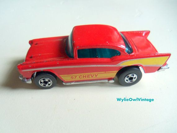 Vintage Hot Wheels 57 Chevy Made in Hong Kong by WylieOwlVintage, $8.00