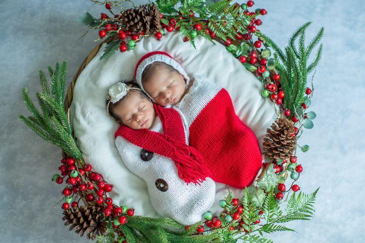 Christmas newborn twins / Gemelos recién nacidos by Vane Delpech Fotografía en Mérida, México
