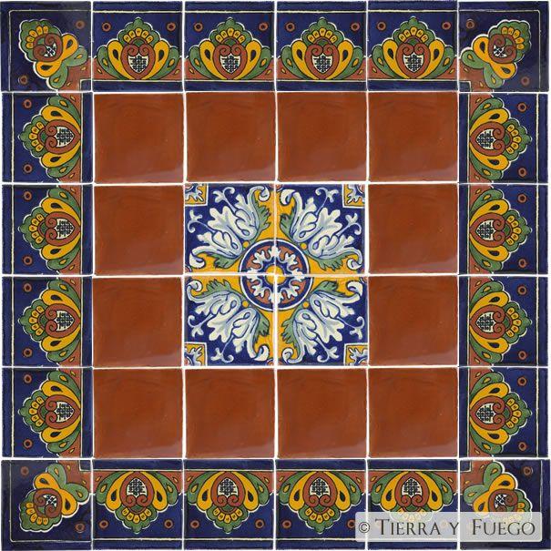 Blue Shell Romanesco Talavera Mexican Decorative Tile Sets Another Design We Love