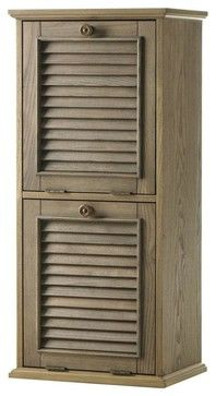 Shutter Recycle Bin - traditional - Kitchen Trash Cans - Home Decorators Collection