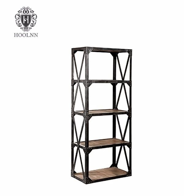 Source Solid Wood Vintage Industrial Bookcase on m.alibaba.com