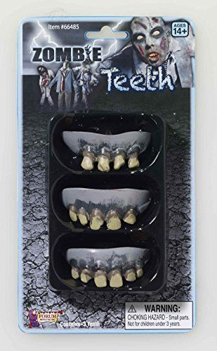 Zombie Rotted Teeth - 3 Pack @ niftywarehouse.com #NiftyWarehouse #Zombie #Horror #Zombies #Halloween