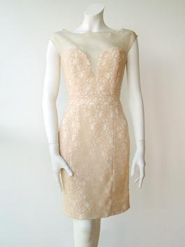 Lianga Nude lace dress