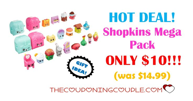 HOT DEAL! If you have a Shopkins collector in the house, make sure you grab this Shopkins Mega Pack for ONLY $10! Jump start the collection today! Click the link below to get all of the details ► http://www.thecouponingcouple.com/shopkins-mega-pack/ #Coupons #Couponing #CouponCommunity  Visit us at http://www.thecouponingcouple.com for more great posts!