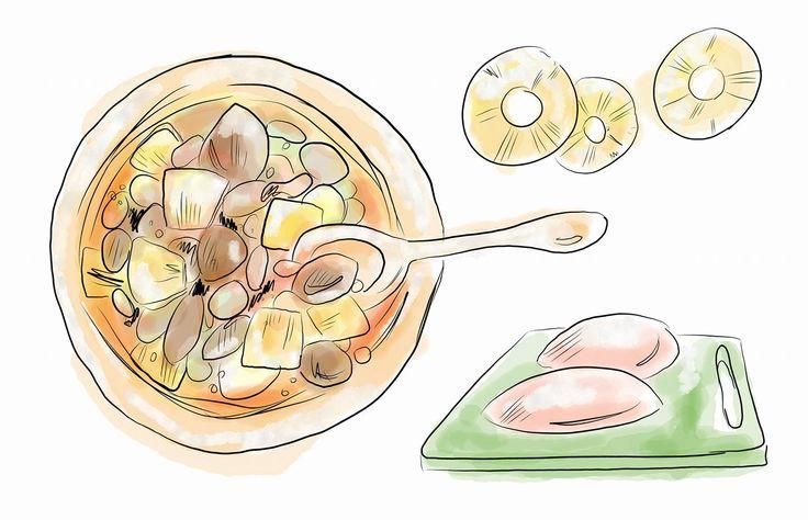 Ananász és csirke: isteni párosítás!