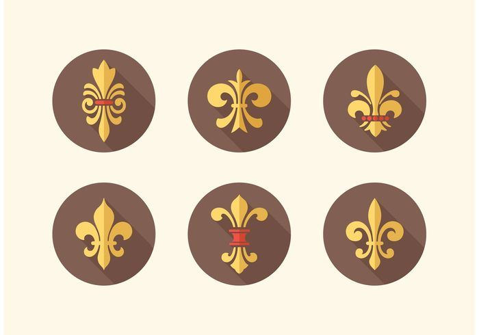 Free vector Free Fleur De Lis Vector Icon Pack #17463