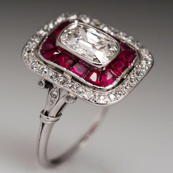 Art Deco Autêntico Anel De Diamante Herança Década De 1920 sólido Platina Noivado | Joias, bijuterias e relógios, Noivado e casamento, Anéis de noivado | eBay!