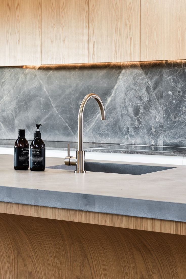 undermount sink in concrete benchtop | kitchen sink in ...