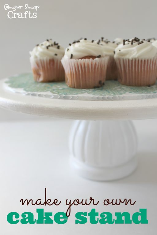 Cake stands make your own and make your on pinterest