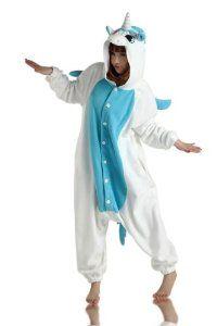 #Halloween : Blue Unicorn Onesie Pyjamas - Genuine Kigurumi Animal Costumes for Adults - Men  Women - Great All in One Fancy... #HalloweenCostume #2013