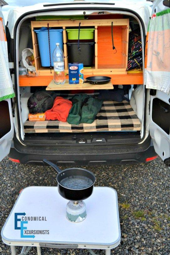 Campervan in Iceland Cooking