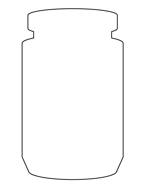 Jar pattern. Use the printable outline for crafts, creating stencils, scrapbooking, and more. Free PDF template to download and print at http://patternuniverse.com/download/jar-pattern/