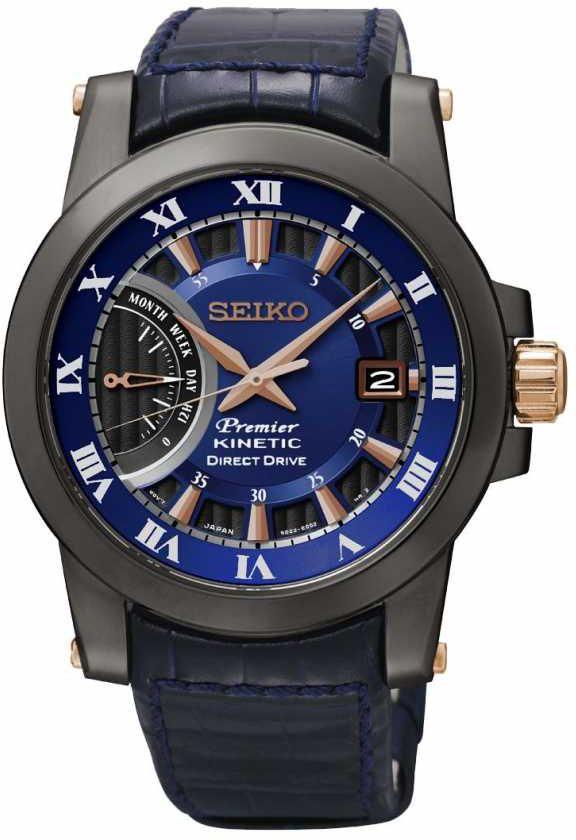 Seiko damen armbanduhr sportura chronograph quarz leder sndx98p1