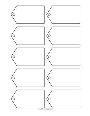 Free Printable Blank Gift Tags Template