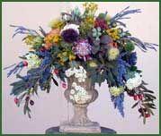 Mediterranean Silk Floral Arrangements, Mediterranean style artificial flower arrangements