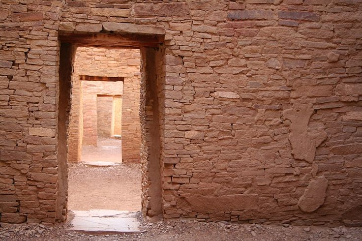 The style of masonry varies at the various great houses in Chaco Canyon.  All the very-high quality masonry is lain with adobe mortar.  Nonetheless, the beautiful artistry was covered with stucco and probably painted.  It is all the more impressive for having survived near 1,000 years in an exposed area.