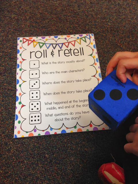 Roll & Retell: Would be a great Read With Someone activity!