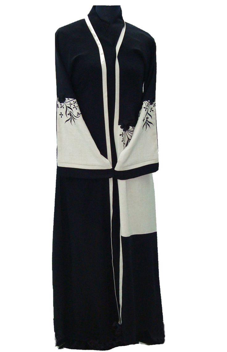 Hayaa Clothing - LINEN embroidered front Stylish Dubai Abaya , $79.99 (http://www.hayaaclothing.com/linen-embroidered-front-stylish-dubai-abaya/)