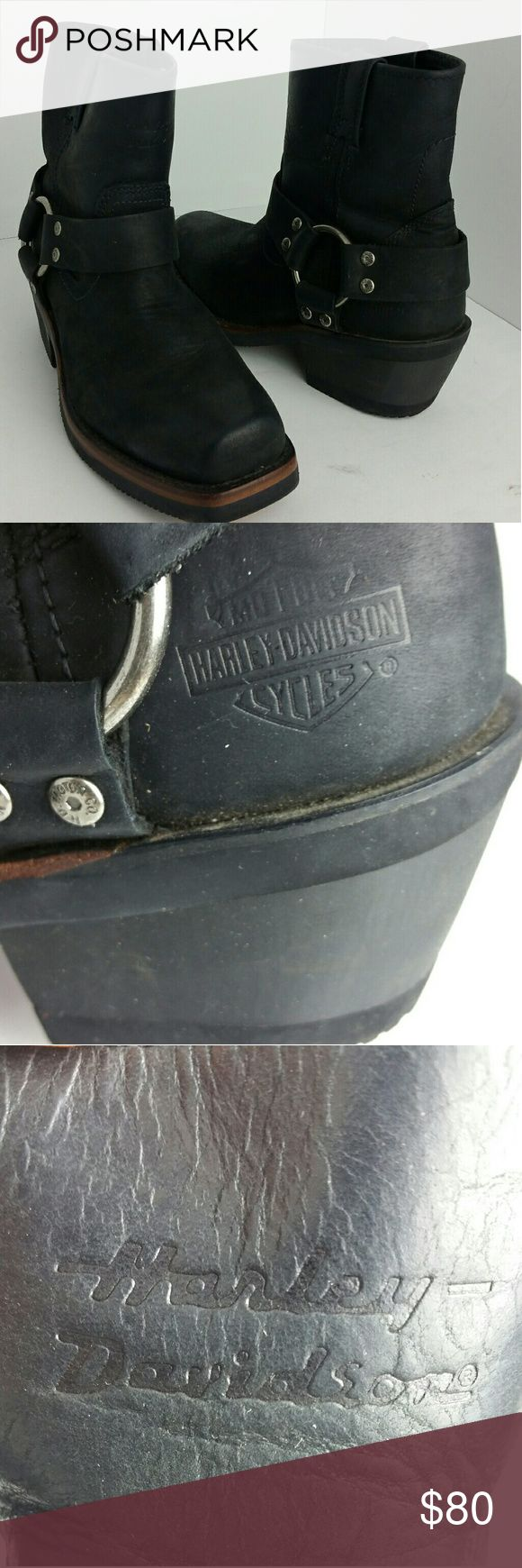 HARLEY DAVIDSON WOMEN BOOT VERY CLEAN INSIDE-OUT   SKE # TV harley Davidson Shoes Combat & Moto Boots