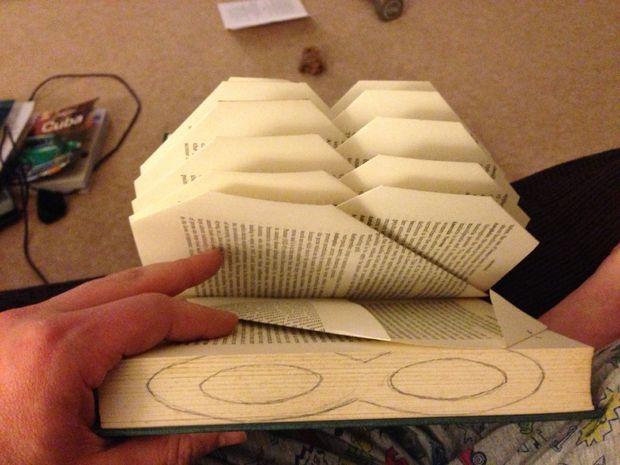 DIY Book art tutorial step by step