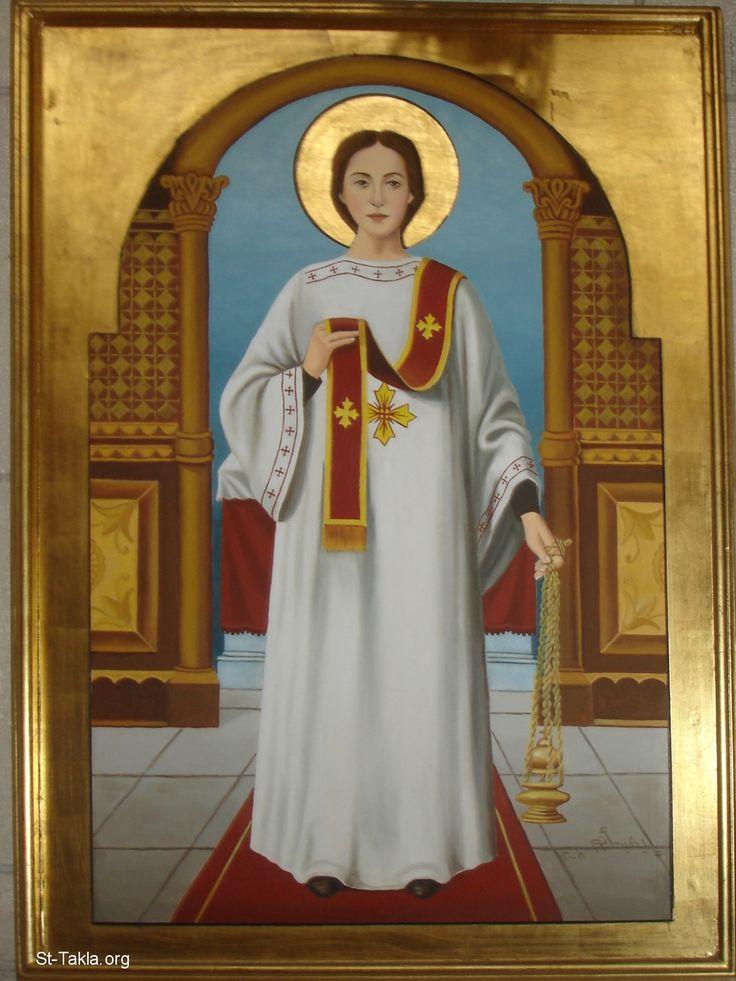 Image: Saint Stephen (Estafanous) the first deacon and martyr <br> صورة القديس الشهيد استفانوس أول الشمامسة وأول الشهداء