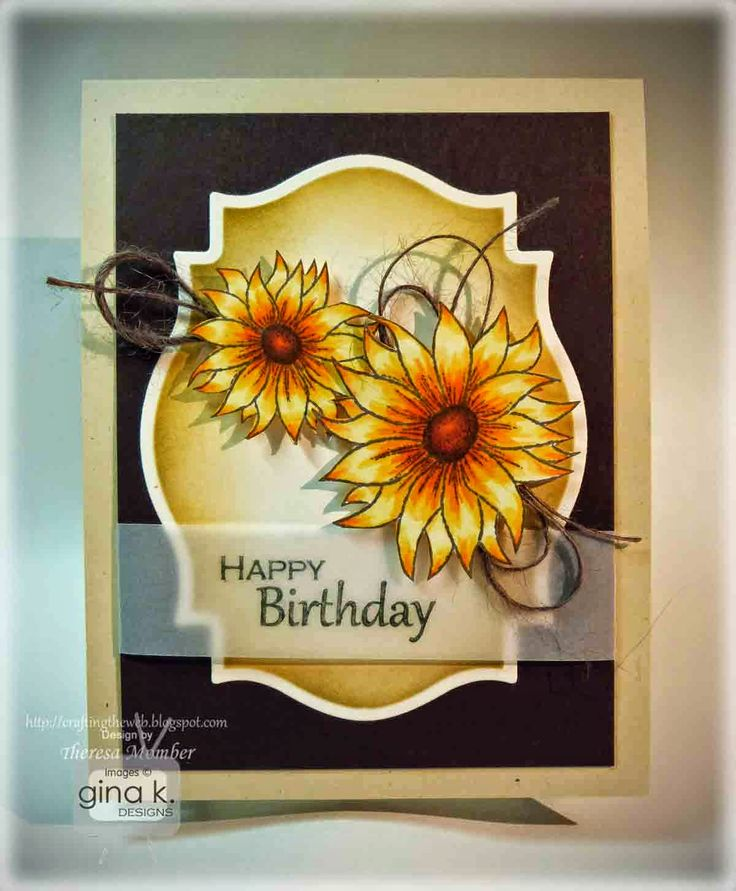 Card Making Ideas Gina K Part - 16: Make A Beautiful Sunflower Birthday Card With A Fun Vellum Sentiment. Video  Features Images From Always Autumn, From Gina K Designs.