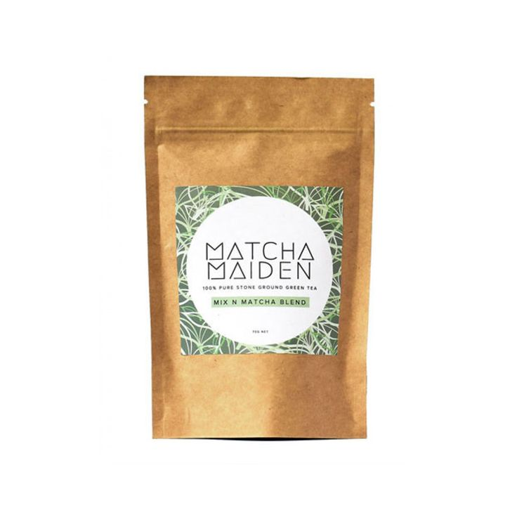 Matcha Maiden powder is made entirely of pure green tea leaves which are stone ground into a delicate powder. Heads up, it may look like caterpillar guts BUT, perfect for adding it to your smoothie bowls, iced tea or sprinkling it on your breakky!