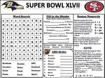 FREE Super Bowl Activity Have the students 'vote' for who they think will win! Make a bar graph