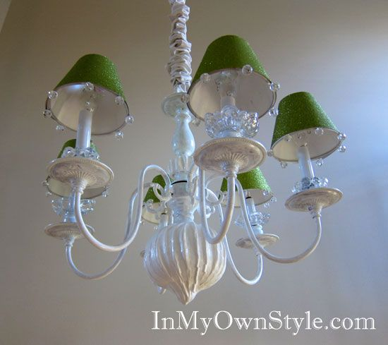 How to make chandelier shade covers using scrapbook paper for Decorate your own lampshade