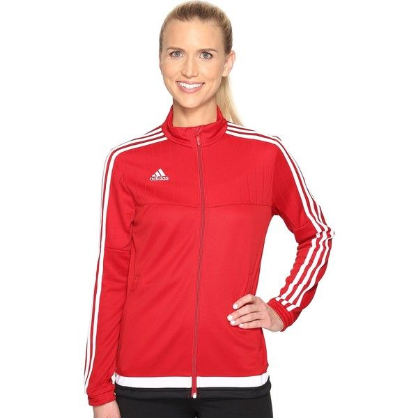 adidas Tiro 15 Training Jacket (Power Red/White/Black) Women's Workout (68 CAD) ❤ liked on Polyvore featuring adidas