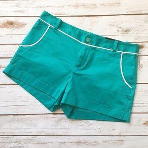 NWT Banana Republic Teal Shorts Price: $25  Size: 8 #bananarepublic #itsbanana #nwt #teal #tealshorts #retro #retroshorts #retrostyle #feminine