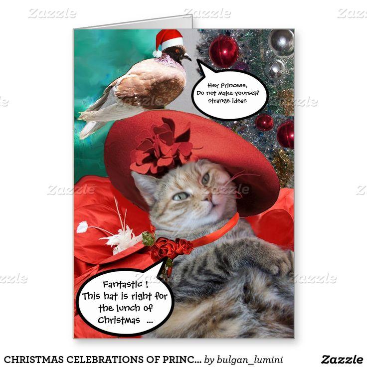 CHRISTMAS CELEBRATIONS OF PRINCESS TATUS CAT GREETING CARD