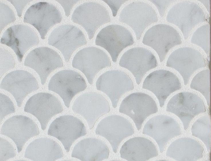 Curve Appeal Carrara Fan Shape2 Mission Stone Tile Your