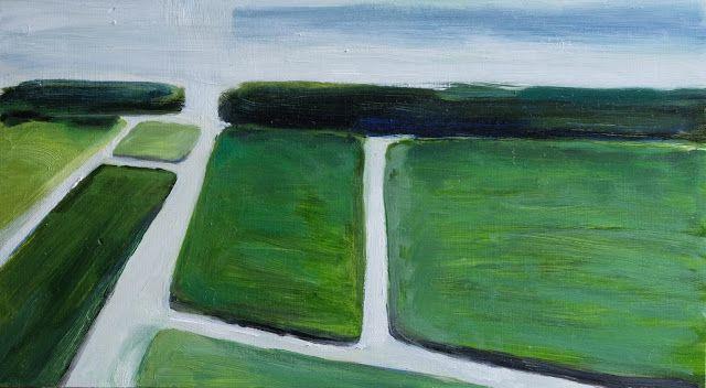 oil on wood painting | 35x20 cm | dutch landscape De Horsten