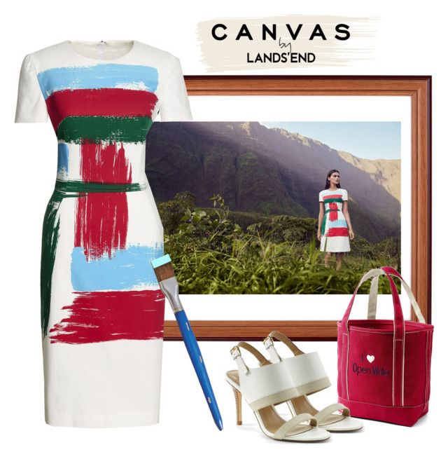 """""""Paint Your Look With Canvas by Lands' End: Contest Entry"""" by paperandpen ❤ liked on Polyvore featuring Lands' End, Canvas by Lands' End and Grandin Road"""