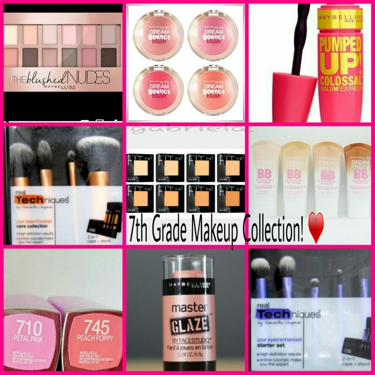 Makeup collection for 7th grade ! ❤