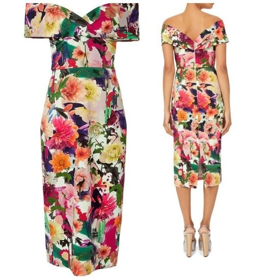 3212bbe069 Blooming Florals off shoulder pencil dress #commissioinlink #womensfashions  #ladiesfashion #dresses #ShopStyle #shopthelook