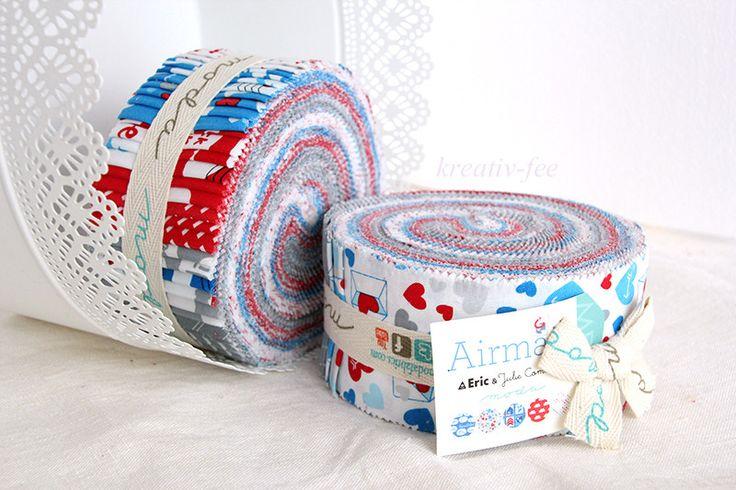 "Jelly Roll ""Airmail"" Moda Patchwork Stoffpaket von kreativ-fee-shop auf DaWanda.com"