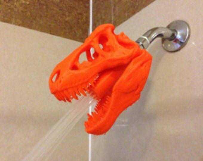 ¡Mundo Jurásico había inspirado Tyrannosaurus Rex regadera! ¡Hecho por encargo! ¡Objeto de impresora 3D! ¡T-Rex para la ducha! Gran regalo para los fan de dinosaurio