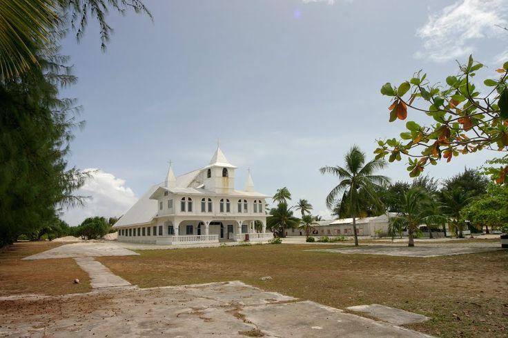 Enewetak Kirke på Enewetak Atoll på Marshalløyene