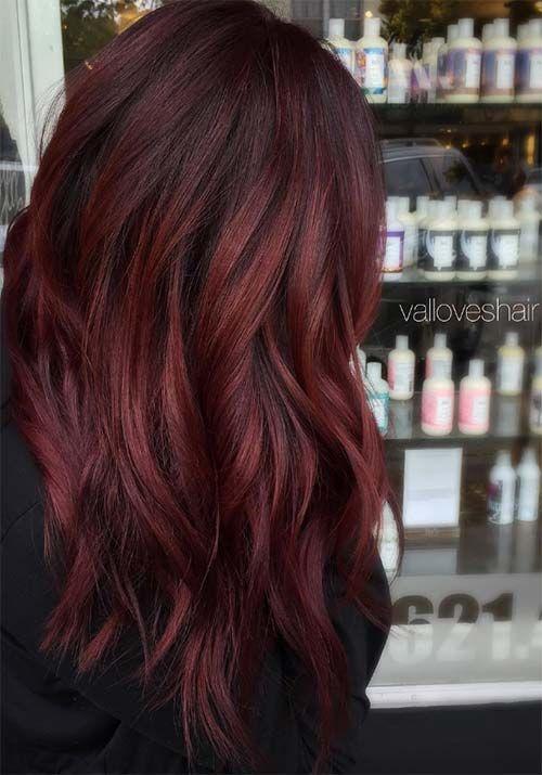 Auburn-Rote Haare Farbe Ideen 2017 #neueFrisuren #frisuren #2017 #bestfrisuren #bestenhaar #beliebtehaar #haarmode #mode #Haarschnitte #haarfarbe