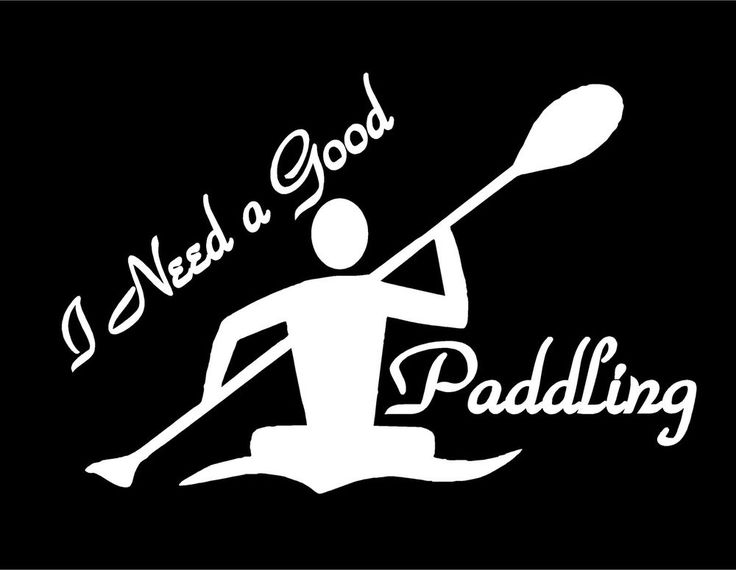 I need a good paddling with kayaker decal this is a contour cutone color vinyl