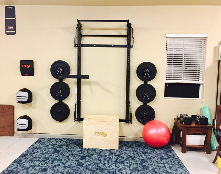 85 best home gym ideas images on pinterest for Home gyms small spaces