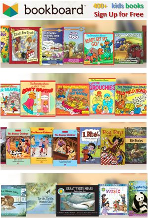 Bookboard offers hundreds of FREE books to children via a system encouraging kids to read more. Visit the website to see the unique system they use to encourage reading. #freebooks
