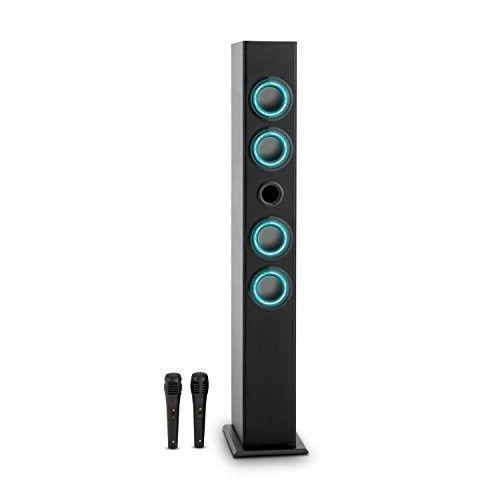 Bluetooth Karaoke Speaker Wireless Tall Tower MP3 Music Player Microphone Radio  #Auna